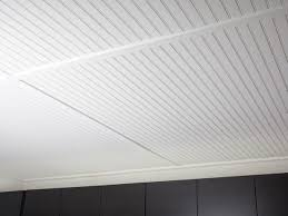Unfinished Beadboard Paneling - painted bead board for basement ceiling ideas for the gotebo