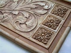 Small Relief Tiles Stone Insert Designs Kitchen Backsplash Insert - Kitchen medallion backsplash