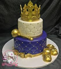 purple gold and white royal princess baby shower cake purple