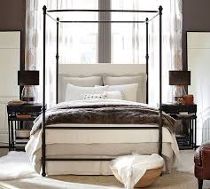 how to decorate canopy bed antonia canopy bed pottery barn