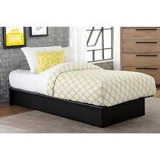 Platform Sleigh Bed Bedroom Single Leather Sleigh Bed Metal Bar Stools Black Leather