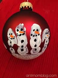 diy handprint snowman ornament the anti