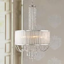 Shaded Crystal Chandelier Chrome Contemporary Chandeliers Lamps Plus