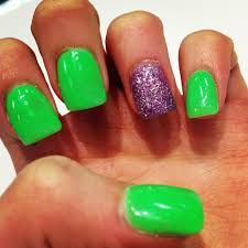 lime green and glitter purple my nails pinterest