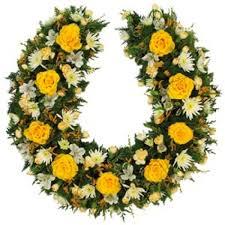 horseshoe wreath golden horseshoe funeral wreaths sympathy