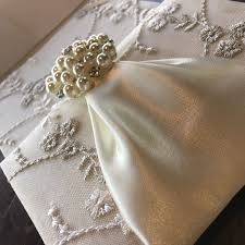 lace invitations ivory embroidered pearl lace invitation for wedding event