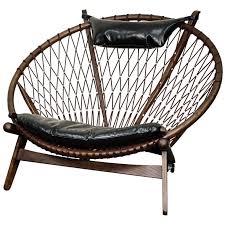 Retro Accent Chair Soren Bonded Leather Accent Chair Dark Walnut Frame Black Npd