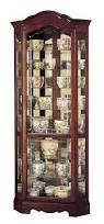 amazon com howard miller 680 249 jamestown curio cabinet kitchen