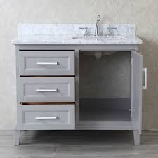 ariel by seacliff nantucket 42 taupe grey single sink bathroom
