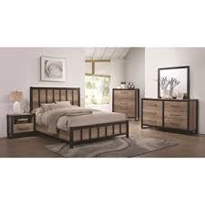 coaster edgewater 206272 industrial nightstand with wide metal