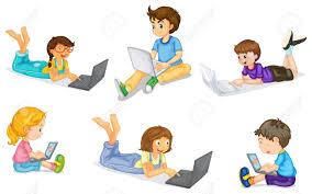 kids on laptop clipart clipartxtras
