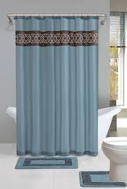 Home Dynamix Designer Bath Shower Curtain And Bath Rug Set DBN - Designer bathroom rugs and mats