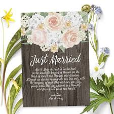 elopement announcements elopement announcement card rustic wedding