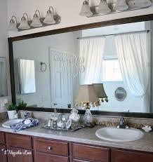 Bathroom Mirror Trim by Easy Diy Tutorial Adding Trim Around A Giant Mirror For Renters