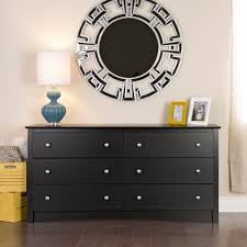 prepac manufacturing broadway black 6 drawer dresser walmart com