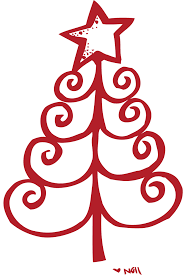 outline of christmas tree clip art clip art library