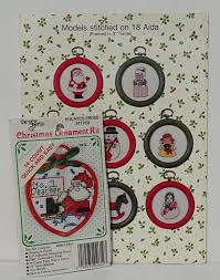 christmas counted cross stitch patterns and small kit christmas