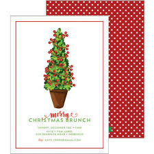 christmas brunch invitations preppy personalized party invitations