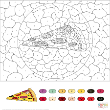 french fries color by number free printable coloring pages