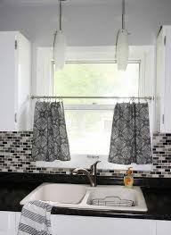 grey and white kitchen curtains kitchens design