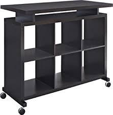 amazon com ameriwood home parsons desk with cubbies black