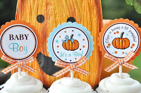fall baby shower pumpkin baby shower cupcake toppers little
