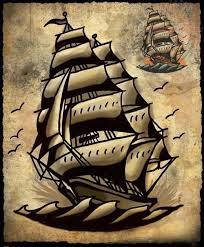 my small ship tattoo