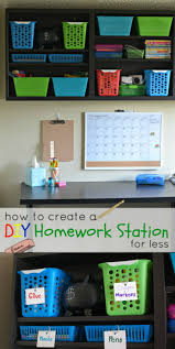 how to create a diy homework station for less a crafty spoonful