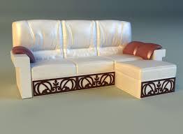 corner couch 3d leather corner sofa wood decor cgtrader