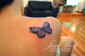 3d butterfly on shoulder meaning for design idea