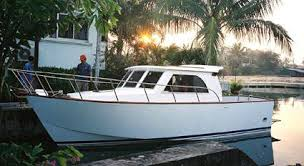home built and fiberglass boat plans how to plywood ski boat plan roberts coastworker 25 fishing work boat