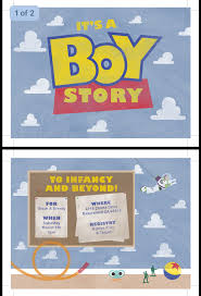 it u0027s a boy story baby shower invitation ordered from redheadedink