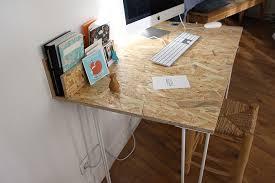 fabriquer bureau sur mesure un bureau osb handmade très simple à réaliser blueberry home