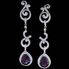 Garnet Chandelier Earrings Garnet Chandelier Earrings Buzzmark Info