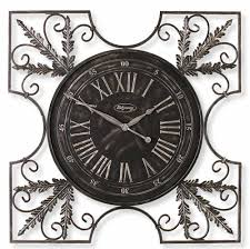 furniture oversized wall clock with floral ornament for charming