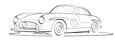 mercedes vector logo vector line drawing of a mercedes 300sl norebbo