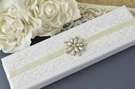 guest book and pen wedding guest book pen with ivory decorated