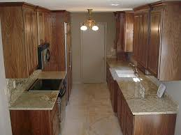 Bright Kitchen Galley Normabudden Com Inspiration Walnut Floor Kitchen For A Large Transitional Galley