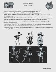 day of the dead dia de los muertos handout art lesson handouts