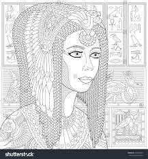 stylized ancient queen cleopatra or nefertiti stock vector