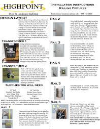 Landscape Lighting Installation Guide Highpoint Berkley Deck Rail Light