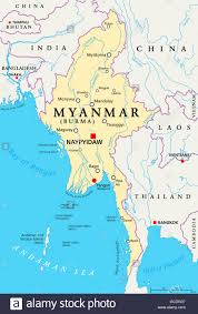 Bay Of Bengal Map Map Of The Bay Of Bengal Burma Stock Photo Royalty Free Image