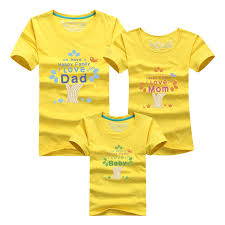 2017 summer t shirts family look tree baby