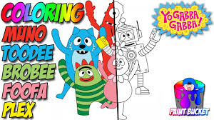 yo gabba gabba coloring pages nickelodeon nick jr coloring