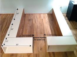 How To Build A Wood Platform Bed Frame by Best 25 Diy Storage Bed Ideas On Pinterest Beds For Small Rooms