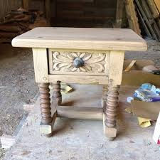 Oak Accent Table Detailed Oak Accent Table Refinish Hometalk