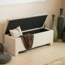 Storage Ottoman White by White Storage Ottoman Bench Home Design Inspirations