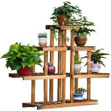 regal balkon massivholz blumenständer mehrgeschossige bonsai holz blumen regal