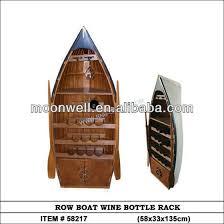wooden wine rack row boat wine bottle holder gifts souvenir
