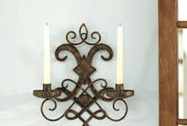 Metal Sconces Sconce Wood And Metal Rustic Candle Sconces Set Of 2 Iron Candle